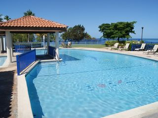 Cabo Rojo apartment photo - Adults pool area has plenty of lounge chairs.