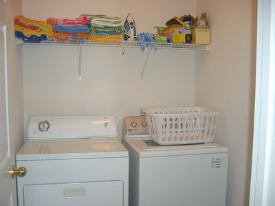 Laundry room with Beach Towels