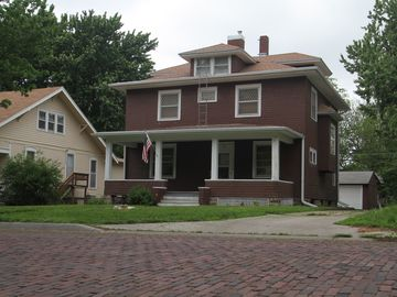Emporia house rental - Historic Emporia home on a tree lined brick street.