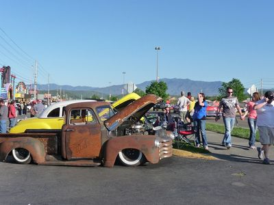 Grand Rod Run Car Show held in Pigeon Forge every April