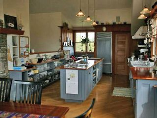 Madaket house photo - Kitchen viewed from DR , breakfast nook at far end of kitchen counter