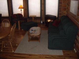 Heber City cabin photo - Relax by the fire after skiing or snowmobiling.