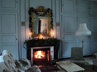 Saint-Georges-sur-Erve chateau / country house photo - Salon at Christmas/New Year.