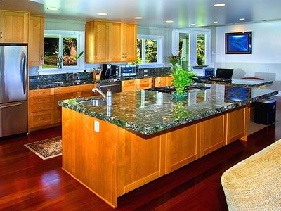 Custom Kitchen Stainless Kitchen Aide Appliances Gorgeous Marble Counters Views
