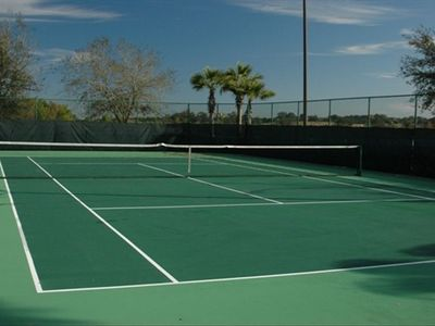 Bridgewater Crossing community tennis courts. Rackets provided in our villa.