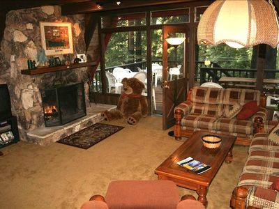 The Bear's Den:  Mid Level Open Kitchen / Living Room