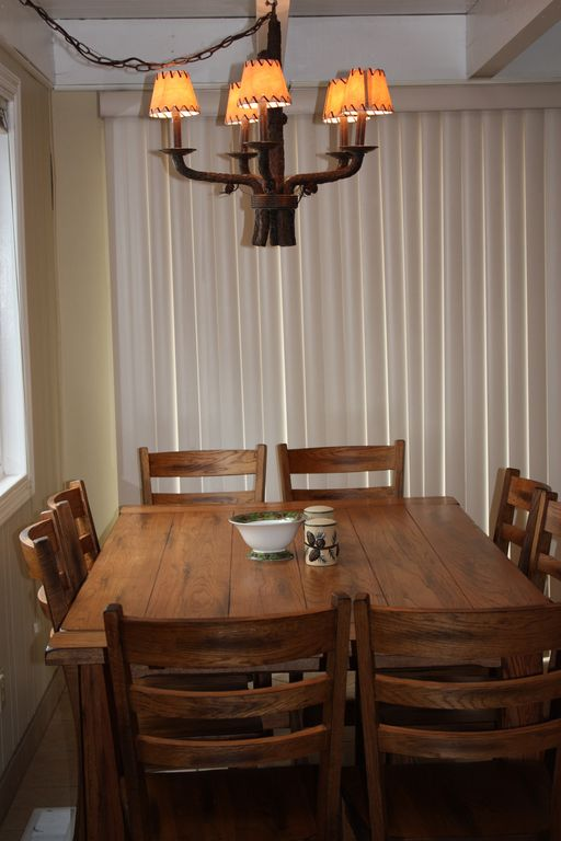 Beautiful Solid Wood Table with Seating for Up to 10!