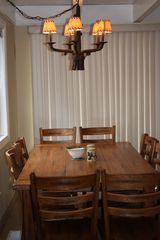 Al Tahoe chalet photo - Beautiful Solid Wood Table with Seating for Up to 10!