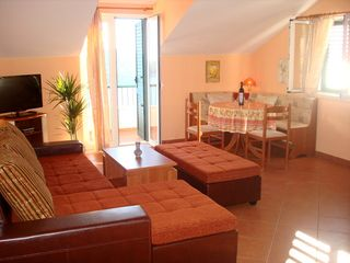 Ploce apartment photo - Relax in the spacious living room/dining area