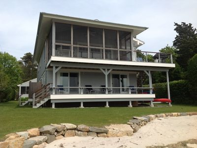 Front of the house. Private beach.