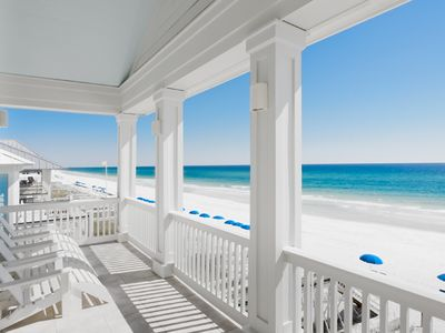 MAIN--One of Our Gulf-Front Porches, & E Beach