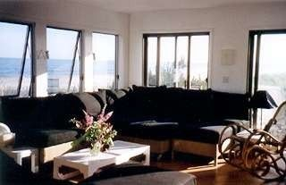Living room with ocean/bay view