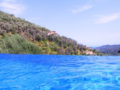 Dolcedo chateau / country house rental - Infinity Pool, View to Sea