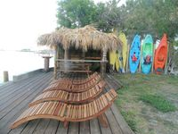 Live like in Paradise directly on the Banana River with Pool 150m to the Beach