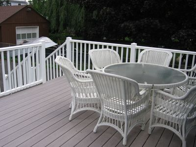 Trex Deck with Full Patio Set.