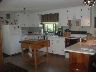 North Conway house photo - Very bright Kitchen with lots of room