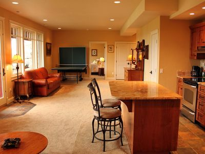 Enjoy Ping Pong or great views from the large Family Room