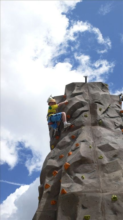 The climbing wall and my nephew
