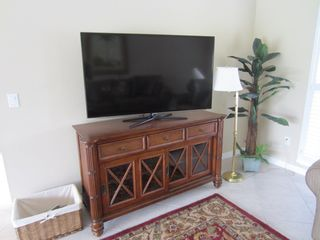Vacation Homes in Marco Island house photo - 55 inch LED TV in Living Room