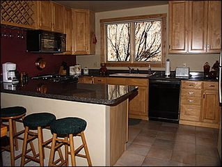 Vail townhome photo - Upgraded Kitchen Bar Seating for 4
