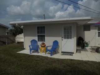 Ormond-by-the-Sea house photo - Newly expanded backporch area complete w/private fenced yard!
