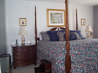 Master Bedroom with King Size Charleston Rice Bed
