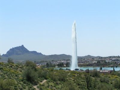 View overlooking Fountain Hills and our famous 560 foot tall fountain