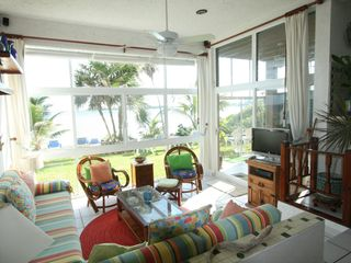 Akumal condo photo - Lots of comfy sitting, and all the extras including the view.