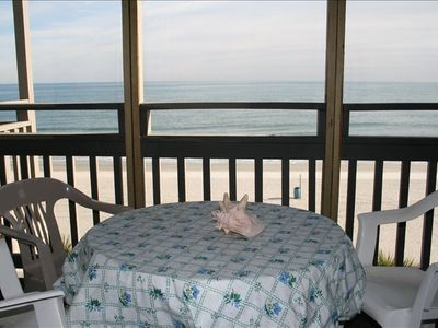 Screen Porch and Ocean View from living room