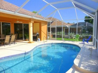 Cape Coral house photo - Heated pool and lanai with gas Bar-BQ