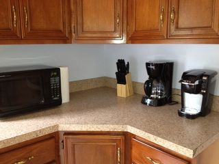 Utica house photo - Fully stocked kitchen with all the regular appliances including a Keurig machine
