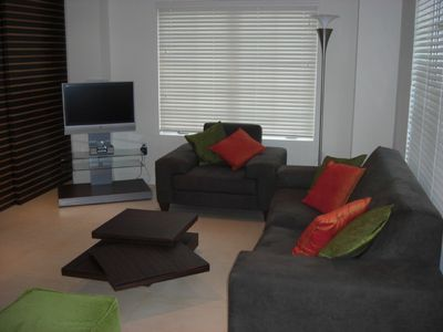 Spacious living area with HD flat screen TV