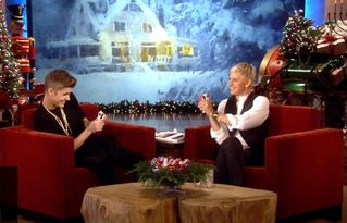 "North Conway house photo - ""Eagles View"" as back-drop to the Ellen DeGeneres ""12 days of Christmas"" shows."