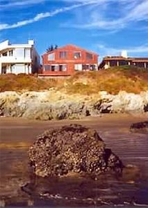 Duplex looking from ocean - @ low tide ! -in front of house