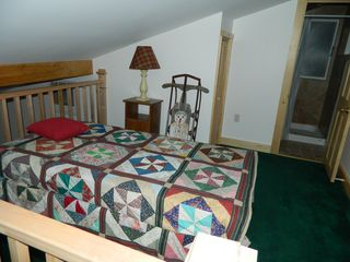 Carrabassett Valley house photo - Single bed upstairs in the loft with your own private bathroom.