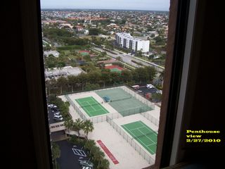 Cape Marco condo photo - tennis courts shot from the penthouse view