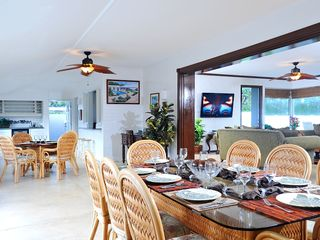 Kailua house photo - Our open dining area is a great place to enjoy a family dinner