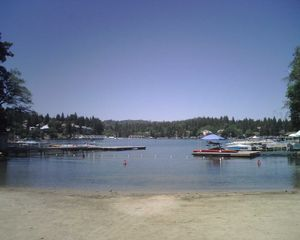 Lake Arrowhead house photo - View from beach