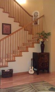 Stairway leading to master suite