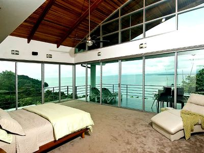 Master Bedroom with panoramic ocean view