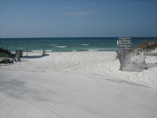 Inlet Beach townhome photo - View of the beach access from the road with no steps! 1 minute walk to home.