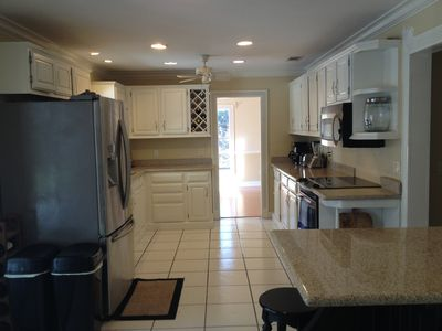 Newly renovated kitchen with all stainless GE appliances