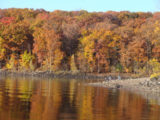 Lake Wallenpaupack townhome photo - Fall shore fishing