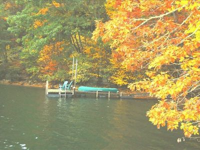 Hemlock Hill Dock with Canoe