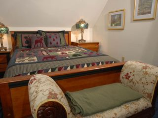 Acadia National Park cottage photo - Second floor guest room with a queen bed