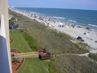 Crescent Beach condo photo - SanABel walk-way from garage - deck to dunes and beach