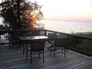 Shelby house photo - Front Deck at Sunset