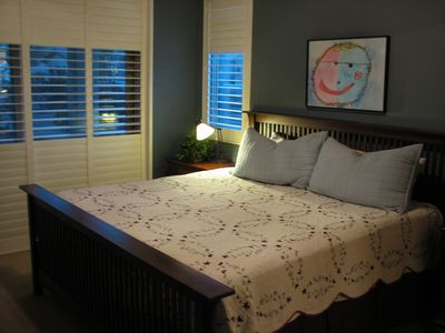 First Master Suite with king-size bed