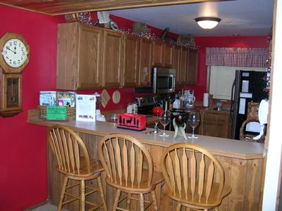 Big Sky condo rental - Big Sky Condo Kitchen w Stainless Steel Appliances