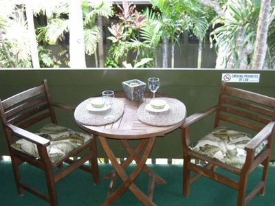 Your private lanai overlooks the garden